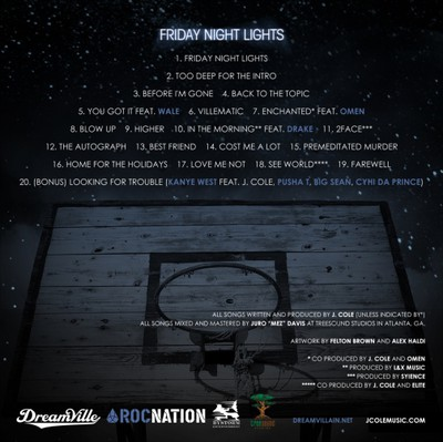 J Cole Friday Night Lights Back