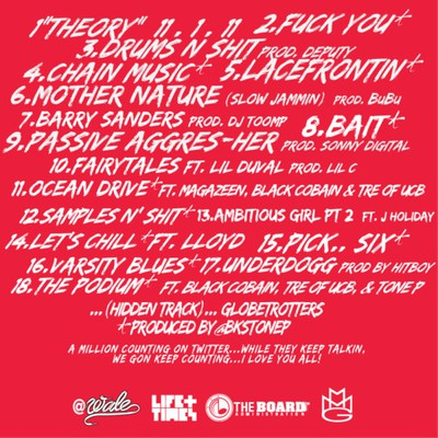 Wale - the eleven one eleven theory back cover