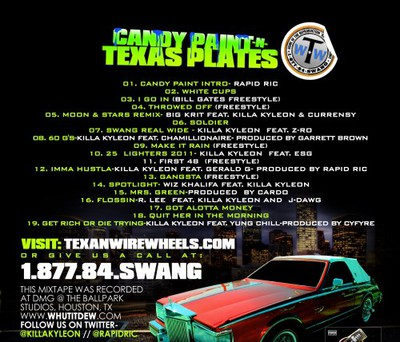 Killa Kyleon - Candy Paint & Texas Plates Back