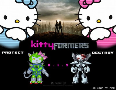 Transformers, the Hello Kitty version! >:)