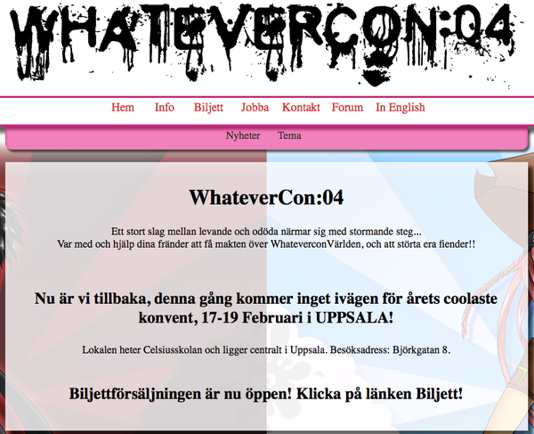 Whatevercon Uppsala