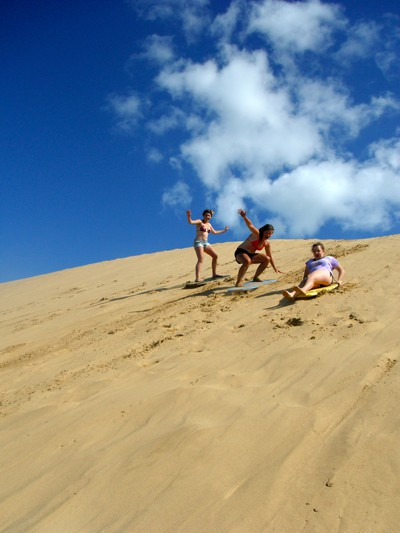 Sandsurfing here we come