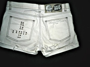 nitar shorts cheap monday omgjort egen design vita jeans mode