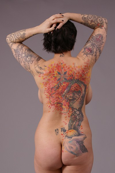 Daphne Apollon Ovidius tattoo full back tattoo