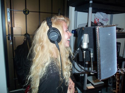Singing in studio