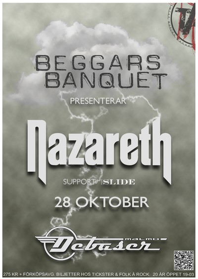 Beggars Banquet presenterar Nazareth & The Slide (support)