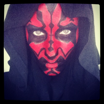 Darth Maul makeup