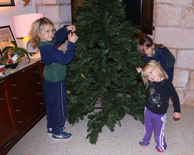 Fixing the Christmas tree