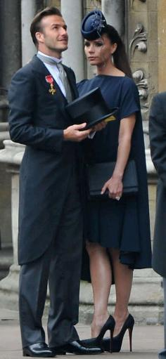David & Victoria Beckham attending the Royal Wedding.
