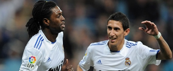 Emmanuel Adebayor & Angel di Maria