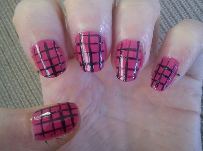 Checker Nails Tut2