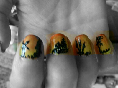 Sunset Nails2
