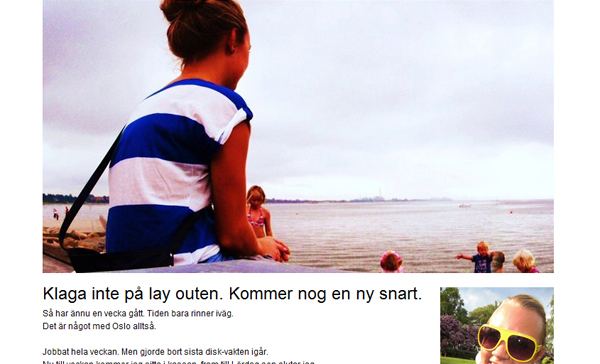 Sandras nya bloggdesign