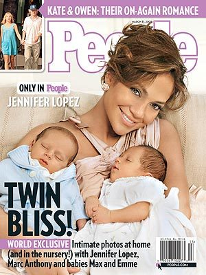 Jennifer Lopez twins