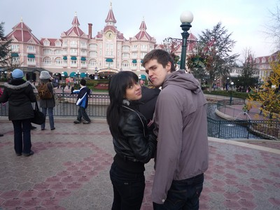 Orsi n Adam at Disneyland