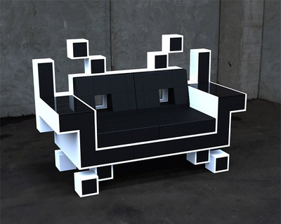 space invader sofa soffa fåtölj stol möbel furniture