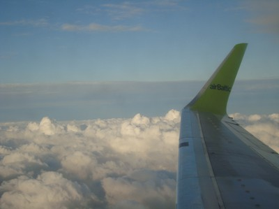 Up in the air - on my way to Russia..