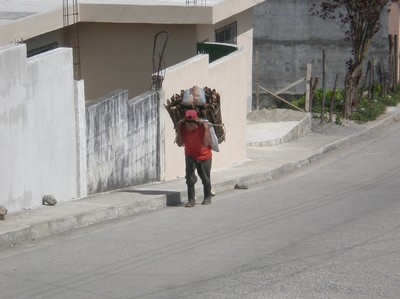 this is how you carry things, use our head!