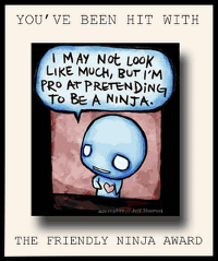 The Friendly Ninja Award...