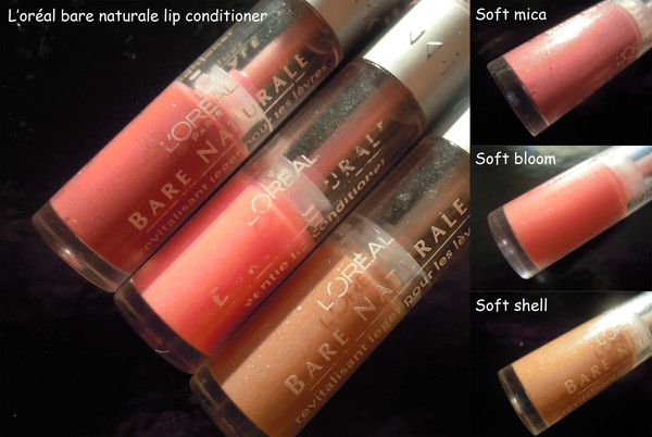 L'oréal bare naturale lip conditioner soft mica bloom shell