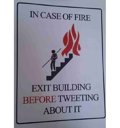 fire and tweeting