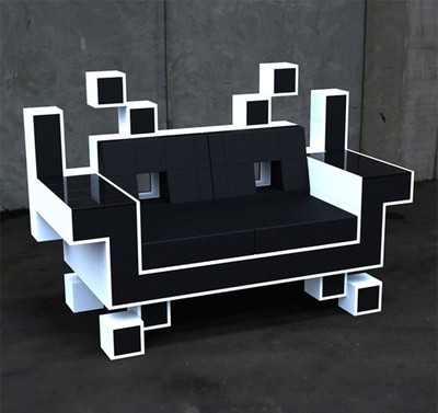 Space Invaders Soffa