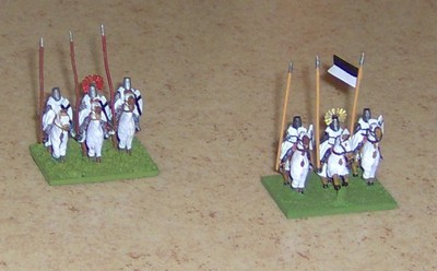 Teutonic Knights painted 2007 (left) and 2010 (right).