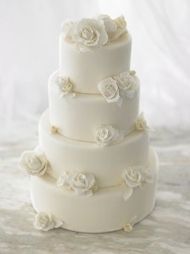 elegant all white wedding cakes 13954