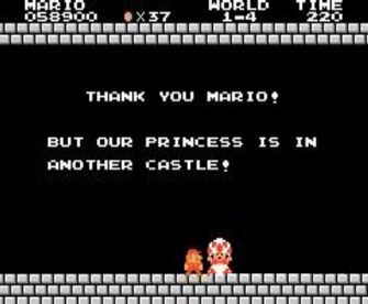 thank you Mario, but your princess is in another castle
