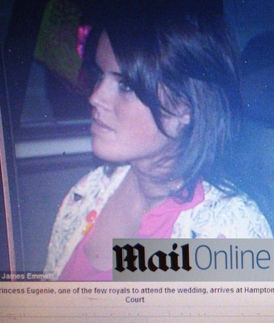 Prinsessan Eugenie (faksimil: The Daily Mail).