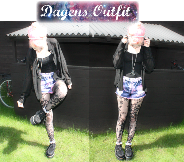 dagens outfit rosa hår pastel grunge gothic fashion