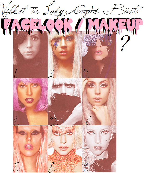 lady gaga face looks