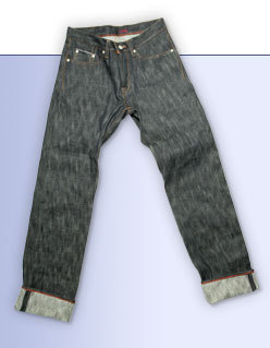 Kicking mule denim