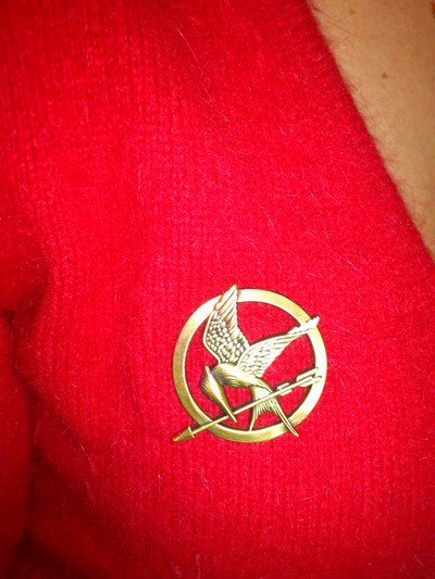 The Hunger Games Mockingjay Pin, Authentic Prop Replica Jewelry, By NECA