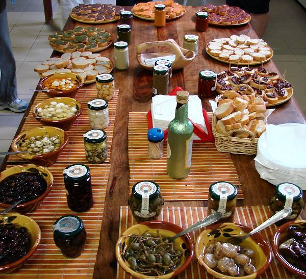 Tasting samples of Ligurian specialties