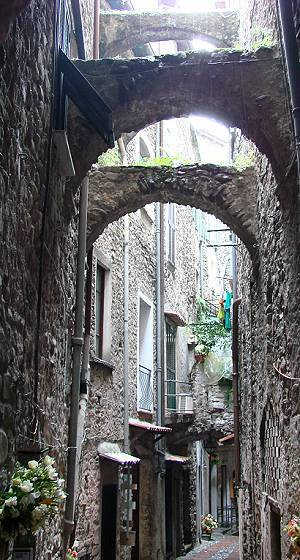Narrow alley in Dolceaqua
