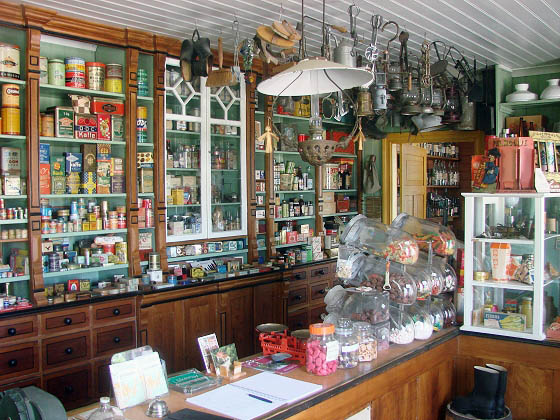 Old country shop interior