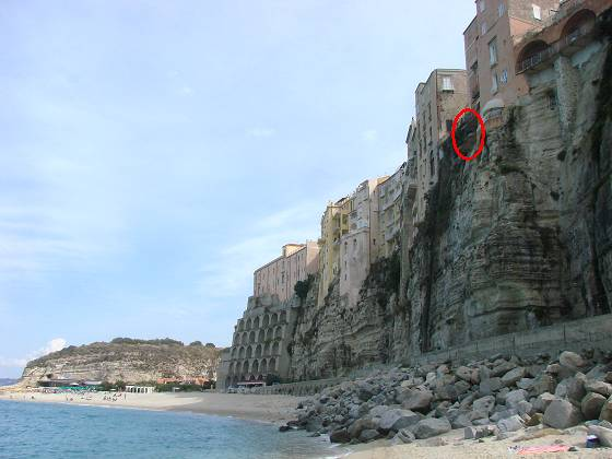 Steep Tropea cliff