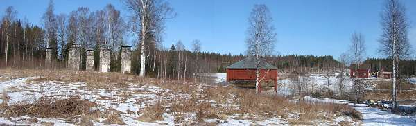 Panoramic view of Tanså old smelting house site