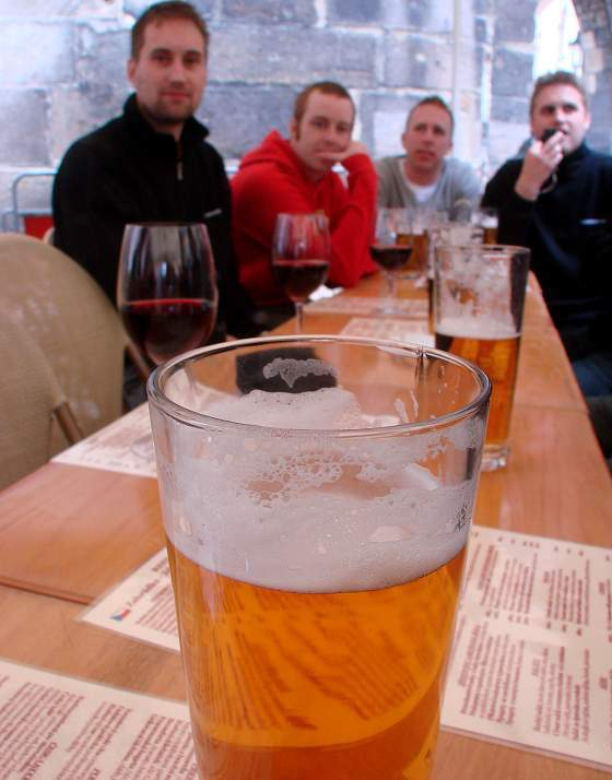 Beer at restaurant
