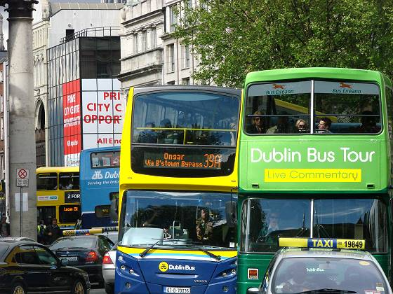 Double decked buses at College Street