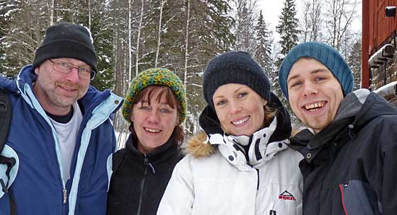 Dan, Anette, Sophie and Rikard
