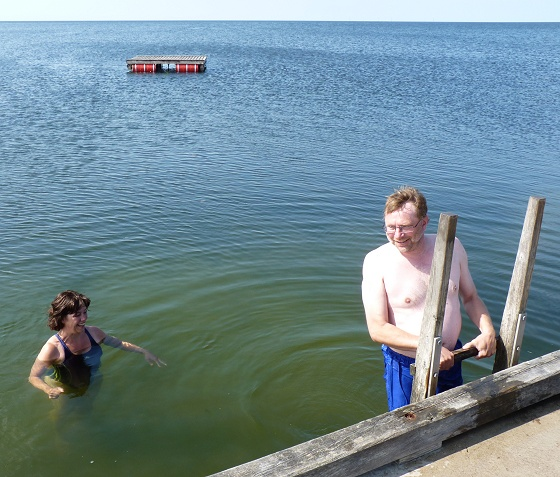 Swimming in Grumpvik, Gotland
