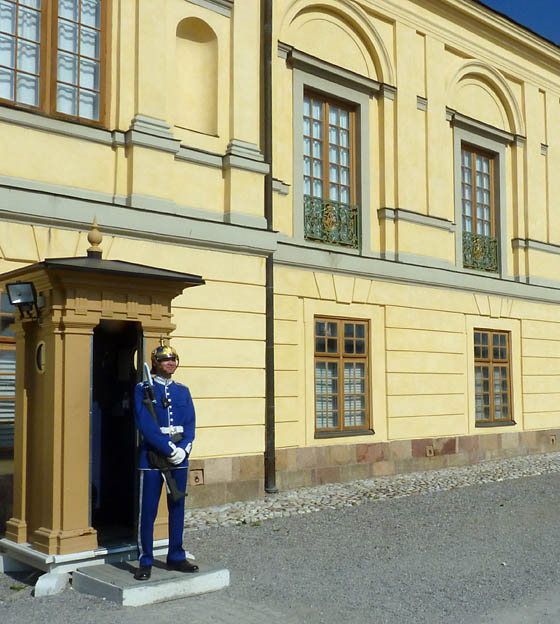 Guard at the king's castle in Drottningholm