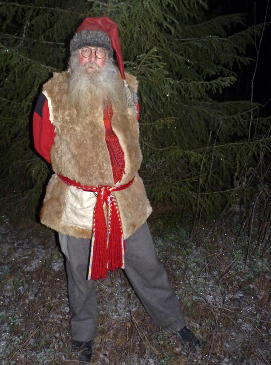 Santa Claus waiting for snow