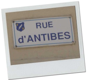 Rue d'Antibes i Cannes