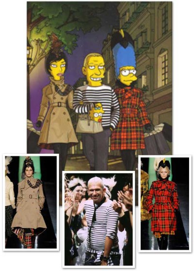 Simpsons in Paris Jean Paul Gaultier