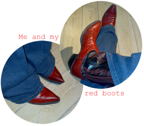 Me and my red boots