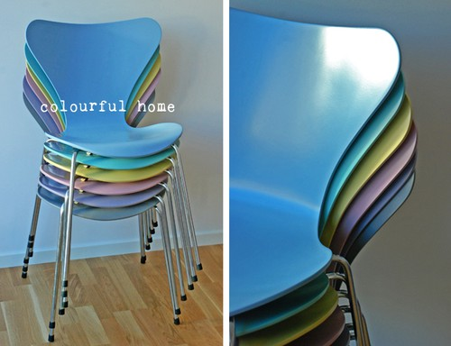 Our new 7 chairs - colourful home