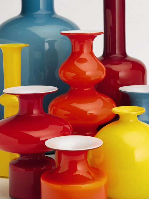 Per Lutkin glass vases by Holmegaard Glassworks